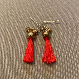Mickey Mouse tassel earrings